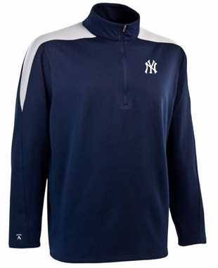 New York Yankees Mens Succeed 1/4 Zip Performance Pullover (Team Color: Navy)
