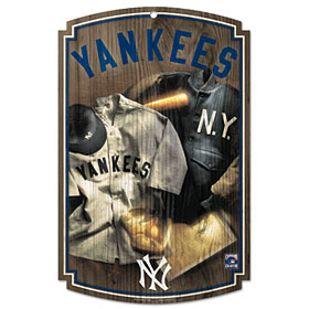 New York Yankees Throwback (1927) Wood Sign