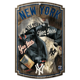 New York Yankees Throwback (1952) Wood Sign