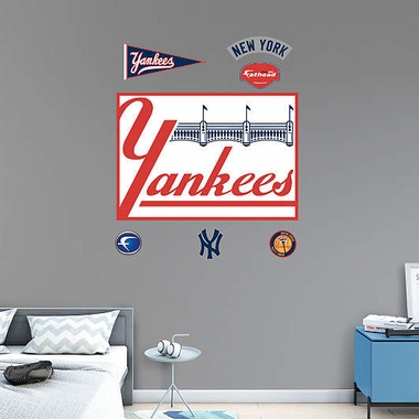 New York Yankees Throwback Logo Fathead Wall Graphic