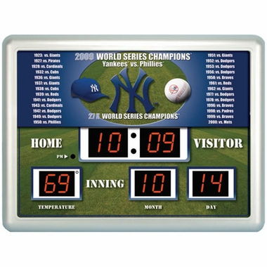New York Yankees Time / Date / Temp. Scoreboard