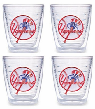 New York Yankees (Tophat) Set of FOUR 12 oz. Tervis Tumblers