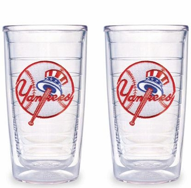 New York Yankees (Tophat) Set of TWO 16 oz. Tervis Tumblers