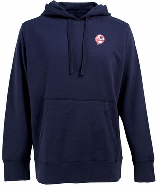 New York Yankees (Tophat) Mens Signature Hooded Sweatshirt (Team Color: Navy)