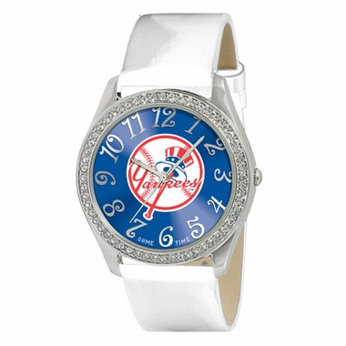 New York Yankees (Tophat) Women's Glitz Watch