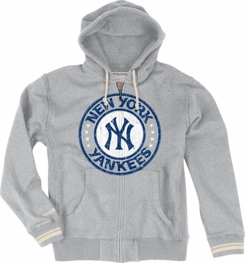 New York Yankees Vintage Full Zip Premium Hooded Sweatshirt