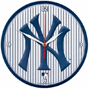 New York Yankees Wall Clock (Pinstripes)