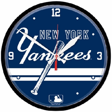 New York Yankees Wall Clock (Script)