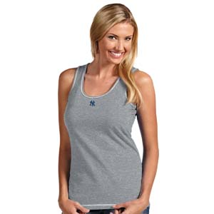 New York Yankees Womens Sport Tank Top (Color: Gray) - Small