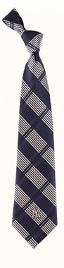 New York Yankees Woven Plaid Necktie