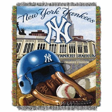 New York Yankees Woven Tapestry Blanket
