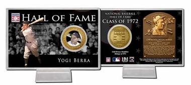 New York Yankees Yogi Berra Hall of Fame Coin Card
