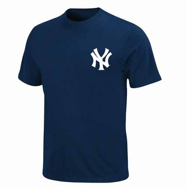New York Yankees YOUTH Official Wordmark T-Shirt - Navy