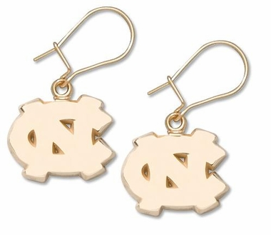 North Carolina 10K Gold Post or Dangle Earrings
