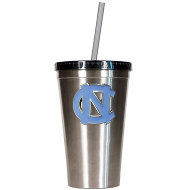 North Carolina 16oz Stainless Steel Insulated Tumbler with Straw