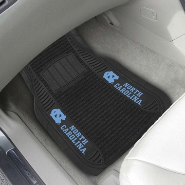North Carolina 2 Piece Heavy Duty DELUXE Vinyl Car Mats