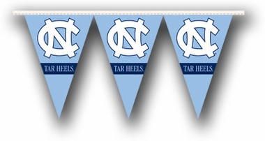 North Carolina 25 Foot String of Party Pennants (P)