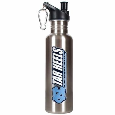 North Carolina 26oz Stainless Steel Water Bottle (Silver)