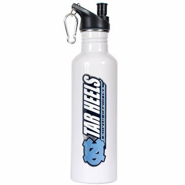 North Carolina 26oz Stainless Steel Water Bottle (White)