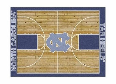 "North Carolina 3'10"" x 5'4"" Premium Court Rug"