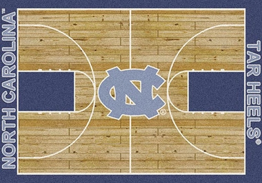 "North Carolina 7'8"" x 10'9"" Premium Court Rug"