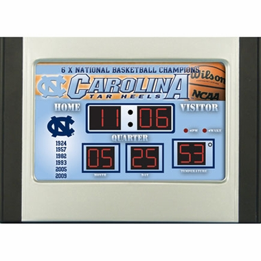 North Carolina Alarm Clock Desk Scoreboard