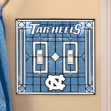 North Carolina Art Glass Lightswitch Cover (Double)