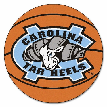 North Carolina Basketball Shaped Rug