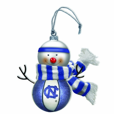 North Carolina Blown Glass Snowman Ornament (Set of 2)