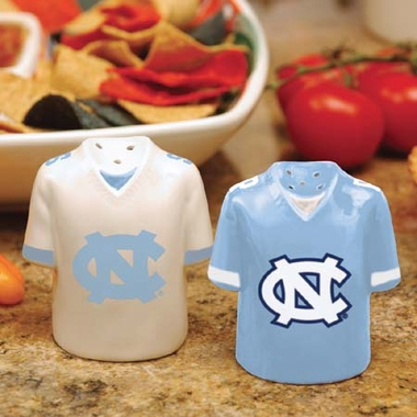 North Carolina Ceramic Jersey Salt and Pepper Shakers