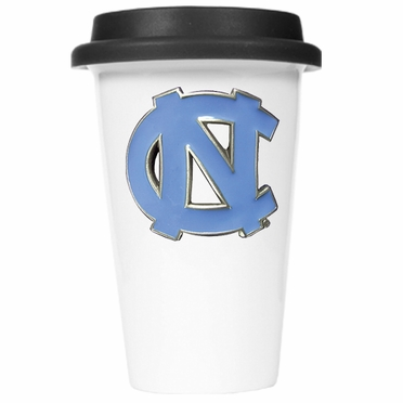 North Carolina Ceramic Travel Cup (Black Lid)