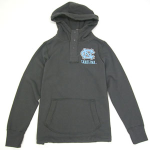 North Carolina Charcoal Velocity Hooded Sweatshirt - X-Large