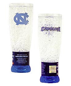 North Carolina Tar Heels Crystal Pilsner Glass