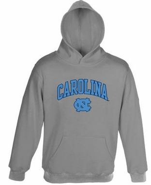 North Carolina Embroidered Hooded Sweatshirt (Grey)