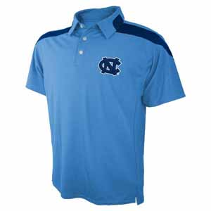 North Carolina Embroidered Logo Polyester Polo Shirt - Large