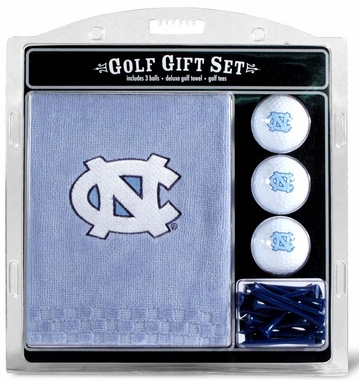 North Carolina Embroidered Towel Golf Gift Set