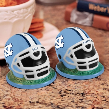 North Carolina Helmet Ceramic Salt and Pepper Shakers