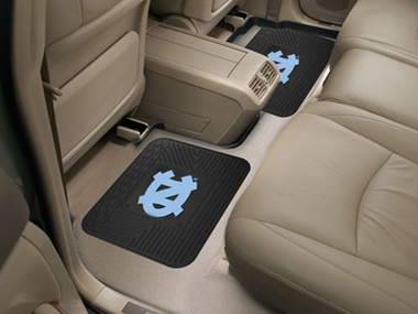 North Carolina SET OF 2 Heavy Duty Vinyl Rear Car Mats