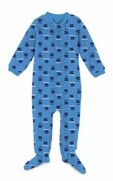 North Carolina Infant Footed Full Zip Raglan Coverall Sleeper