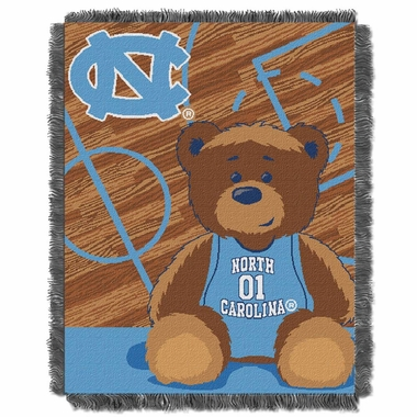 North Carolina Jacquard BABY Throw Blanket