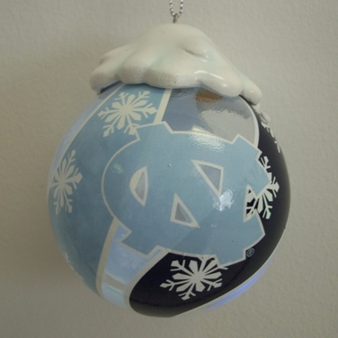 North Carolina Light Up Glass Ball Ornament