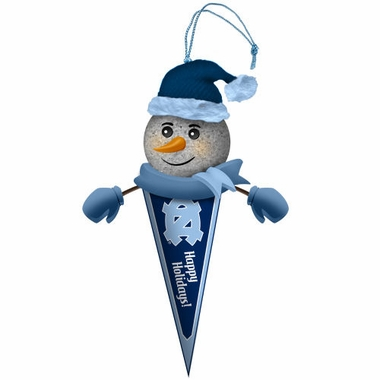 North Carolina Light Up Snowman Pennant Ornament (Set of 2)