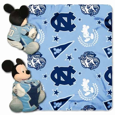 North Carolina Mickey Mouse Pillow / Throw Combo