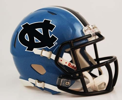 North Carolina Mini Replica Speed Helmet
