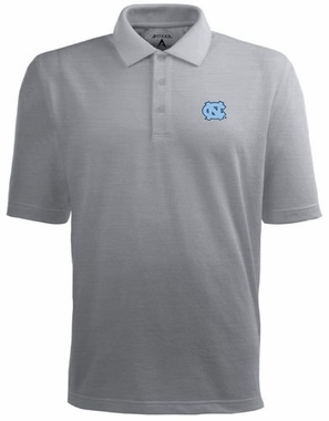 North Carolina Mens Pique Xtra Lite Polo Shirt (Color: Gray)