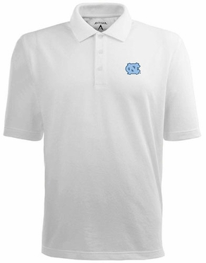 North Carolina Mens Pique Xtra Lite Polo Shirt (Color: White)