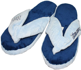 North Carolina Plush Thong Slippers-Large