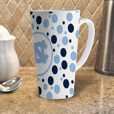 North Carolina Polkadot 16 oz. Ceramic Latte Mug