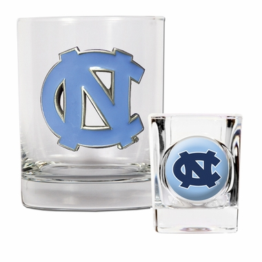 North Carolina Rocks and Shot Glass Set