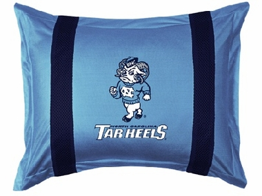 North Carolina SIDELINES Jersey Material Pillow Sham